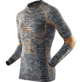 X-Bionic Accumulator Evo Melange UW LS Round Neck Shirt Herren grey melange/orange